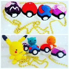 Pokemons e pokebolas!! 😍  #pokemongo #ateliedaje #pokemon #amigurumi #crochet