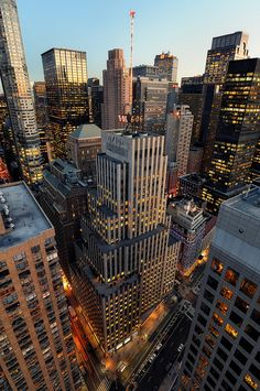 Late Afternoon over Midtown Manhattan, New York City by andrew c mace