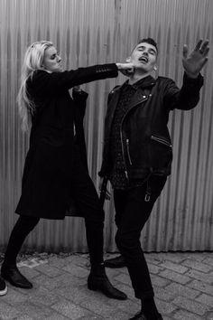 Lynn Gunn and Alex Babinski.  Pvris