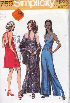 Vintage 1971 Simplicity Dress in Two Lengths by sewvintageladies