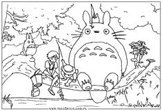 Totoro on pinterest studio ghibli miyazaki and cute for My neighbor totoro coloring pages