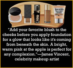 Learn how to apply #BlushOn from #CelebrityMakeupArtist James Vincent.