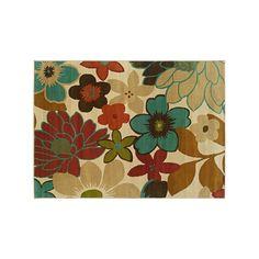 StyleHaven Elliott Ivory Floral Rug, Beig/Green (Beig/Khaki)