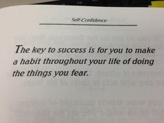 Confront your fear!