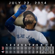 Jose Reyes collects 3 hits and crushes his 8th homer of the year as the Blue Jays top the Red Sox. Recap: http://atmlb.com/1txJW5W