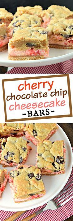 Chocolate-Cherry Crumb Bars Recipe — Dishmaps