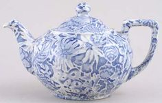 I have a Burleigh Scilla teapot just like this one.  A dear friend gifted it to me.
