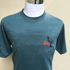 Vintage 90s Stussy Men's Short Sleeve Shirt Built In USA Saxophone Pipe Design    eBay