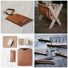 Leather DIY Gifts for Men- Tutorials on EverythingEtsy
