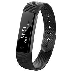 Fitness Tracker Lendoo Waterproof Smart Bracelet with Heart Rate Monitor Calorie track Step Counter Activity Tracker with Sleep Monitor Bluetooth for Android IOS IPhone Samsung Nexus LG ** You can find out more details at the link of the image. (This is an affiliate link) #ExerciseandFitnessEquipment
