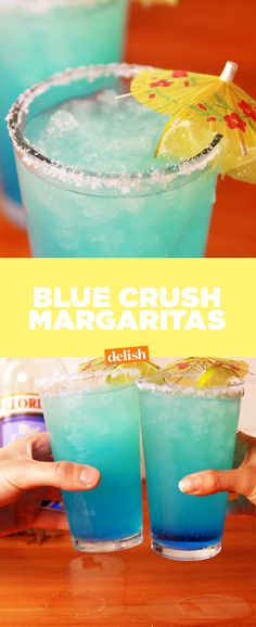Blue Crush Margaritas take your favorite cocktail to the next level. Get the recipe from Delish.com.