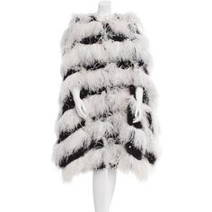 Pre-owned Chanel Paris-Dallas Ostrich Feather Cape ($8,500) ❤ liked on Polyvore featuring women's fashion, outerwear, black, black cape coat, chanel, cape coat, ostrich feather cape and sequin cape