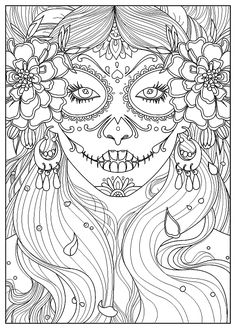 Day Of The Dead Woman Artist Juline