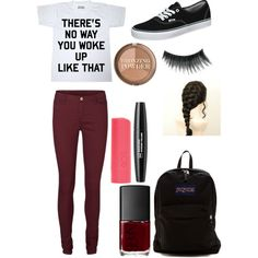 A fashion look from September 2014 featuring Vero Moda pants, Vans shoes and JanSport backpacks. Browse and shop related looks.