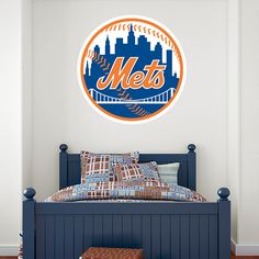 Football Team Logo Wall Decal Removable /& Reusable For Home Bedroom New York Giants Wide 20x16 Height