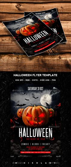 Halloween Flyer Template PSD #design Download: http://graphicriver.net/item/halloween-flyer/12988416?ref=ksioks