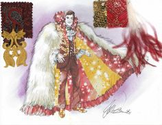 Behind the Candelabra_Red Lasagna with Ostrich Cape_Image credit_Christian Cordella, HBO