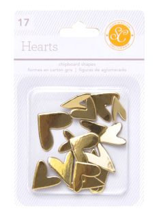 Essentials Chipboard Hearts - Gold @Studio_Calico