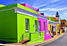 Bo-Kaap in Cape Town, South Africa    Bo-Kaap is the Cape Town Malay Quarter located in a very interesting district of South Africa. The coloful town serves as home to decendants of the first people from Indonesia, India, Malaysia, and Sri Lanka who were enslaved during the 18th century. If you plan to visit Bo-Kaap, better time it during the Coon Carnival or a big street party every 2nd of January.