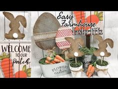 For today's DIY I am sharing 3 easy Dollar Tree DIY for Easter. These are my last Easter Decor diy for this year, but I have an entire playlist if you want m. Dollar Tree Decor, Dollar Tree Crafts, Oster Dekor, Diy Osterschmuck, Easter Tree Decorations, Holiday Decorations, Diy Ostern, Easter Crafts, Easter Ideas