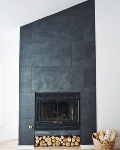 Investing in a fireplace is something many homeowners consider to be essential. In fact, some of them list the fireplace … Fireplace Facade, Concrete Fireplace, Fireplace Surrounds, Fireplace Mantels, Halloween Fireplace, Tiled Fireplace Wall, Fireplace Ideas, Fireplace Pictures, Slate Fireplace Surround