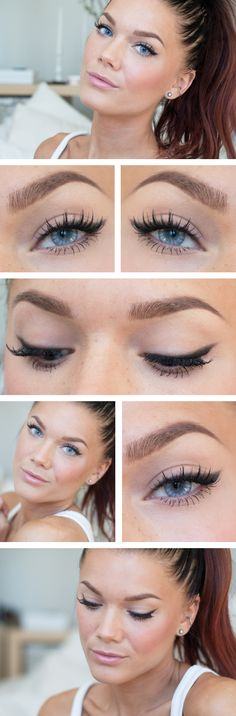 Softened winged eyeliner