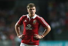 Owen Farrell of the Lions looks on during the match between the British & Irish Lions and the Barbarians at Hong Kong Stadium on June 1, 2013,  Hong Kong.