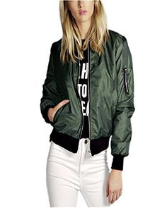 Material: Cotton+Polyester+Satin Type: Jacket Color: Black, Army Green, Red, Navy Sleeve Style: Long Sleeve Package Include: 1 Jacket (Thin Jacket) NOTICE: Our tag sizes are ASIAN SIZE, Please check your size with our SIZE CHART before you buy it. Size may be 2cm/1 inch inaccuracy DUE TO HAND...  More details at https://jackets-lovers.bestselleroutlets.com/ladies-coats-jackets-vests/quilted-lightweight-jackets/product-review-for-zanzea-women-jackets-short-biker-bomber-class