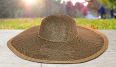 Paper Straw Floppy Hat with Gold Chain Crown