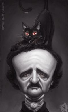 Edgar Allan Poe Combined with 'The Black Cat'