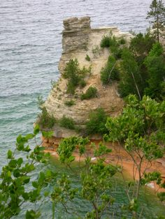 Pictured Rocks in Michigan - Been THERE - exactly there - it is beautiful.