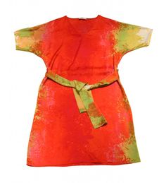 red silk natori dress