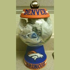 Hey, I found this really awesome Etsy listing at https://www.etsy.com/listing/178081570/denver-broncos-candy-jar