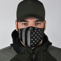 American Flag Face Mask for Him with Filter Pocket + 2 FREE Filters Diy Mask, Diy Face Mask, Face Masks, Black American Flag, Galaxy Leggings, Flag Face, Wife And Girlfriend, Hippie Outfits, Fashion Face Mask