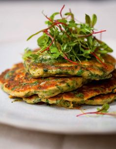 Green Pancakes with Lime Butter Recipe from Plenty photo