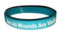 Posttraumatic Stess Not All Wounds Are Visible wristband, teal lapel pin option Ptsd Awareness, Teal Ribbon, Whole Heart, Lapel Pins, Good Things, Stuff To Buy, Ebay, Badges