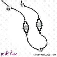 Luxedo Necklace.  Wear long or short.  Even enhance another necklace like the Bedazzled .