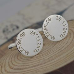 Personalized Silver Coordinate Cufflinks ,Coordinate Jewelry