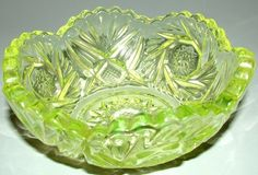 Early Heisey production was mainly in crystal glass although some colors were introduced in emerald, ivorina verde (custard), opal (milk glass), and canary (Vaseline). By 1914-15, Heisey expanded its line to include blownware, etchings, and cuttings. A.H. Heisey died in 1922 and his son, a chemist, took over the business. He immediately brought additional color into the Heisey line.