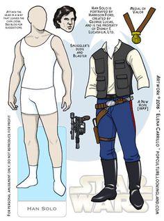 Star Wars Paper Dolls Han Solo © Elena Carrillo