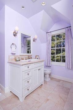 Home d cor bathroom on pinterest for Lilac bathroom ideas
