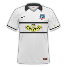 Camiseta Retro - Colo Colo 96' Chile, Polo Shirt, Polo Ralph Lauren, Soccer, Sports, Mens Tops, Fashion, Necklaces, Retro T Shirts