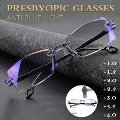 Rimless Reading Glasses, Double Usage, Eye Prescription, Cool Gadgets To Buy, Amazing Gadgets, Spy Gadgets, Cool Inventions, Glasses Case, Traditional Art