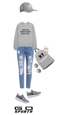 """""""Senza titolo #4624"""" by waikiki24 ❤ liked on Polyvore featuring Kate Spade, Joshua's, Monki and adidas Originals"""