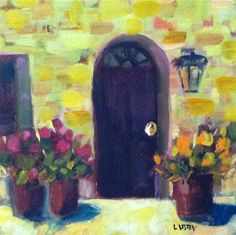 """""""Yellow Wall"""" - Original Fine Art for Sale - © Libby Anderson"""