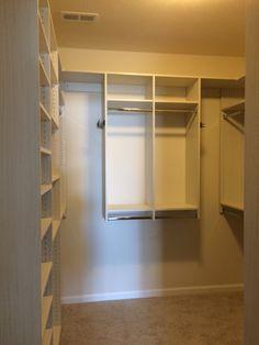 Fresco melamine walk-in closet.