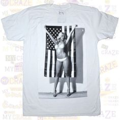TOO MANY LOOSE STRINGS TMLS Tits Sexy Hot Woman USA Flag MENS White T-Shirt – MyCraze #TMLS #TooManyLooseStrings #Twointheshirt #Graphictee #Sexygirl