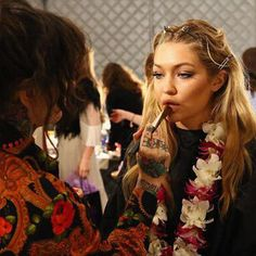 NAoB working backstage with Dean Nixon at Myer Runway Show