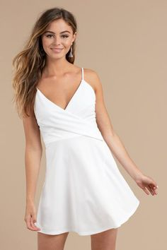 87b8b0c8f3b1 Sweetheart White Straps V-neck Short Homecoming Dresses Best Homecoming  Dresses