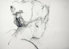 """'Ismaelle' charcoal on paper, 12"""" x 18"""" 2013"""